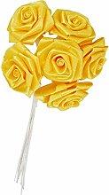 Mopec F473.06 Rose Silk Yellow, Knob 6, Pack of