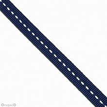 Mopec S14.25 Tape Navy Blue White Stitching, 7 mm