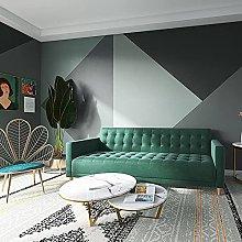 Morandi Color Wallpaper Nordic Bedroom Bedside