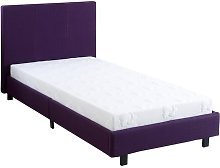 Morano Upholstered Bed Frame with Mattress Mercury