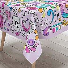 Morbuy 3D Graffiti Print Waterproof Table Cloths