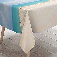 Morbuy 3D Pineapple Print Waterproof Table Cloths