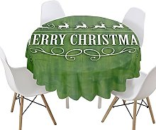 Morbuy Christmas Decorate Round Tablecloth for
