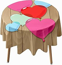 Morbuy Round Tablecloth for Circular Table, 3D
