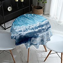 Morbuy Round Tablecloth for Circular Table, 3D Sea