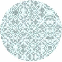 Morbuy Round Tablecloth Oilcloth Elastic Edged