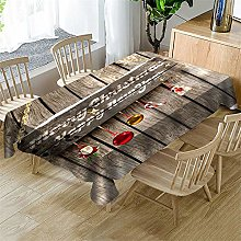 Morbuy Table Clothes Christmas, Festive Style 3D