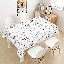 Morbuy Table Cloths Rectangular Waterproof, 3D Pet