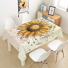 Morbuy Tablecloths Rectangular Wipe Clean - 3D