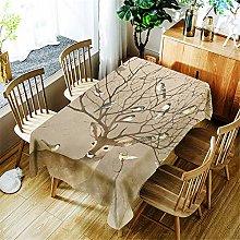 Morbuy Waterproof Table Cloths Rectangle, Elk