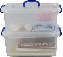Morcte 8 Liter Clear Latching Box, Plastic Storage