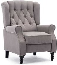 More4homes - ALTHORPE LINEN RECLINER CHAIR - GREY