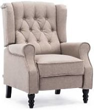 More4homes - ALTHORPE LINEN RECLINER CHAIR - PUMICE