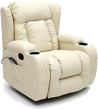 More4homes - CAESAR CREAM LEATHER RECLINER CHAIR