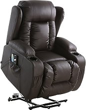 More4Homes CAESAR ELECTRIC RISE RECLINER MASSAGE