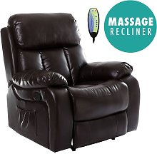More4homes - CHESTER BROWN REAL LEATHER RECLINER