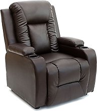 More4Homes OSCAR BONDED LEATHER RECLINER w DRINK