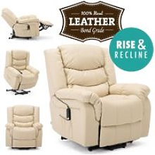 More4homes - SEATTLE CREAM ELECTRIC RISE LEATHER