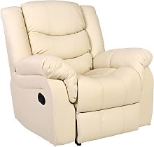 More4homes - SEATTLE CREAM LEATHER RECLINER