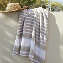 Morella Outdoor Towel, White Natural, Bath Towel