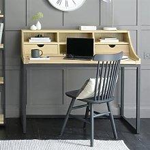 Moreton Metal and Oak Extending Desk