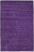 Morgenland Plain Gabbeh Rug, Wool, Lilac, 140 x 70