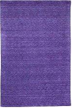 Morgenland Plain Gabbeh Rug, Wool, Lilac, 60 x 40