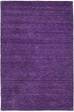 Morgenland Plain Gabbeh Rug, Wool, Lilac, 90 x 60