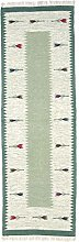 Morgenland Tapis Rug, Green, 250x80x0.7 cm
