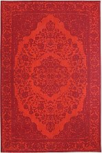 Morgenland Tapis Rug, red, 300x80x0.7 cm