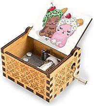 Moriah elizabeth Wooden Music Box Hand Crank
