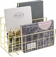 MORIGEM Letter Tray Paper Tray Gold Desk