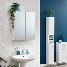 Moritz Mirrored Cupboard White