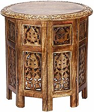 Moroccan Style Folding Small Solid Wood Side Table