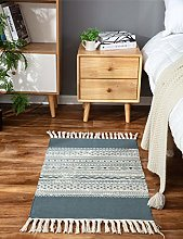 Moroccan Woven Area Rug With Tassels,60*90CM