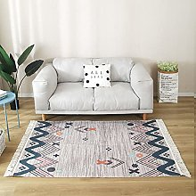 Moroccan Woven Area Rug With Tassels, Vintage