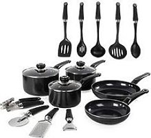 Morphy Richards 14-Piece Cookware Set In Black