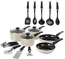 Morphy Richards 14-Piece Cookware Set In Cream