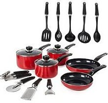 Morphy Richards 14-Piece Cookware Set In Red