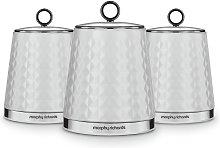 Morphy Richards 3 Piece Storage Jars - White