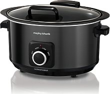 Morphy Richards 6.5L Hinged Lid Slow Cooker - Black