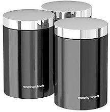 Morphy Richards Accents Set Of 3 Storage Canisters