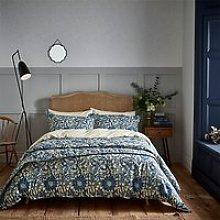 Morris & Co. Pink Rose Bedding, Blue