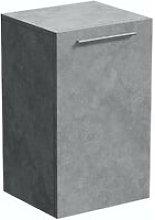 Morris dark concrete grey wall hung cabinet 660 x