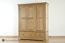 Morriswood Triple Wardrobe with Drawers FRW3, One