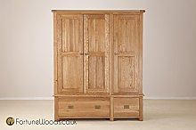 Morriswood Triple Wardrobe with Drawers SOW50, One