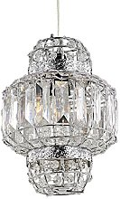 Morrocan Lantern Style Chrome and Clear Acrylic
