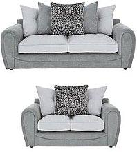 Mosaic 3-Seater + 2-Seater Fabric Sofa Set (Buy