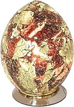 Mosaic Egg Lamp Glass, Orange, Medium
