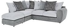 Mosaic Fabric Left-Hand Single Arm Chaise Sofa